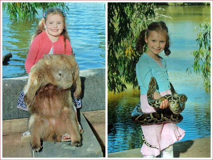 Emily and Alex with their new best friends at Billabong Sanctuary