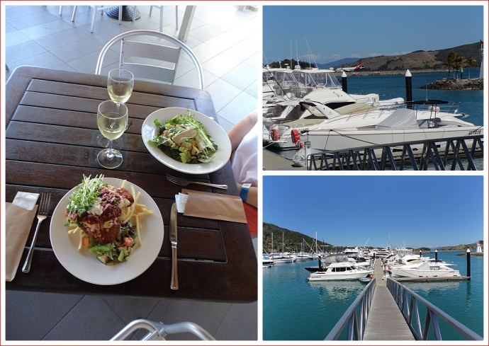 Lunch overlooking the marina
