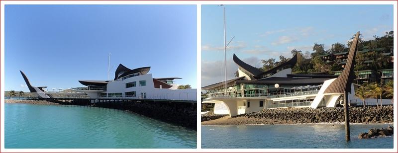 Striking design of the yacht club