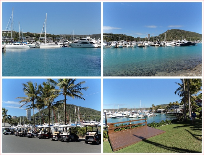 Yachts and buggies at Hamilton Island