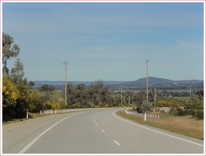 View to Hume Weir from the Hume Freeway