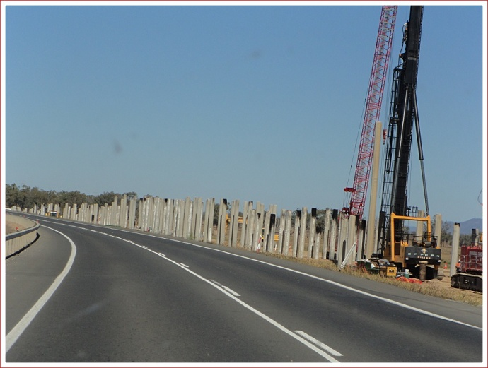 New bridge under construction near Rockhampton