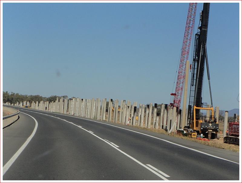 New bridge under construction near Rockhampton