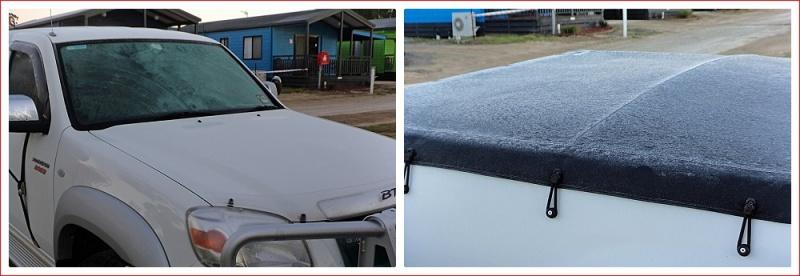 Ice on the Ute in Bendigo