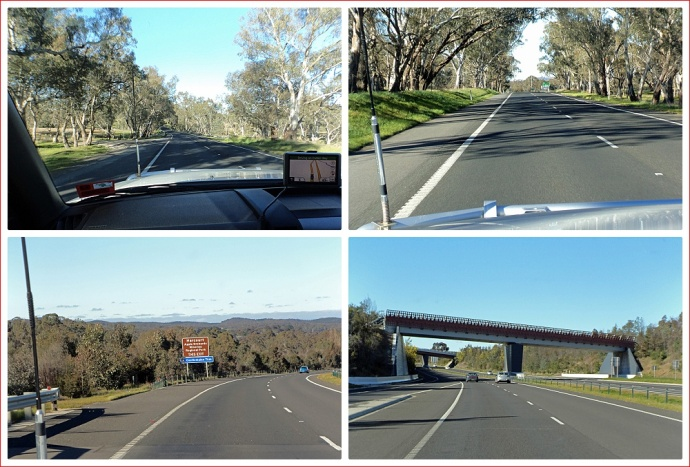 Views from the Calder Highway leaving Bendigo