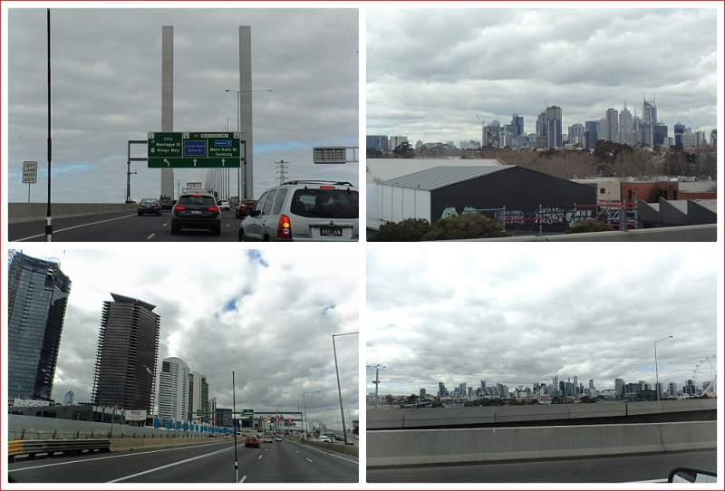 Views from the Bolte Bridge and the Freeway