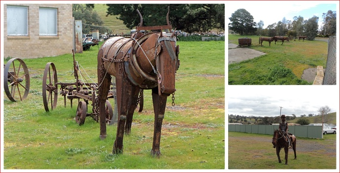 Interesting Equine Sculptures at Jugiong