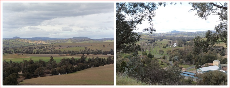 Scenes from the lookout at Jugiong
