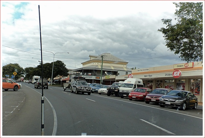 Main street of Childers was very busy