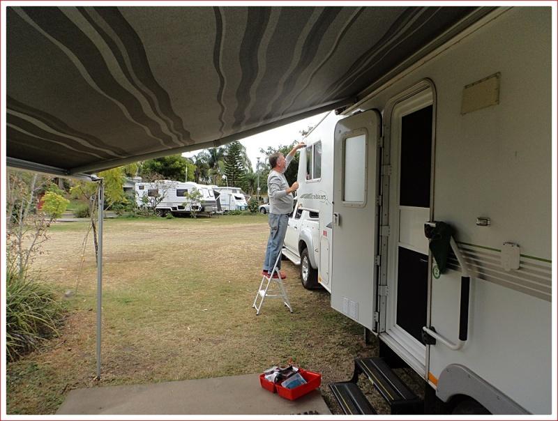Minor caravan repairs