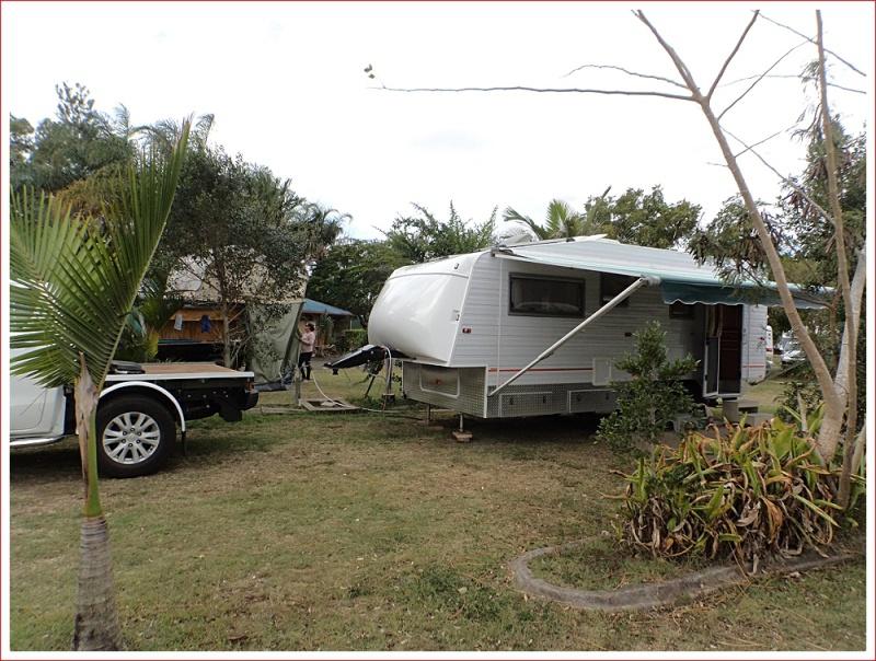 Interesting home made fifth wheeler caravan
