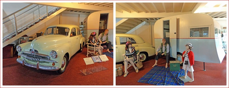 Early caravan at McFeeters Motor Museum, Forbes