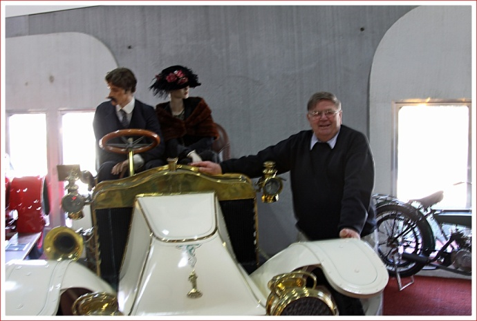 Bill McFeeter at McFeeters Motor Museum, Forbes