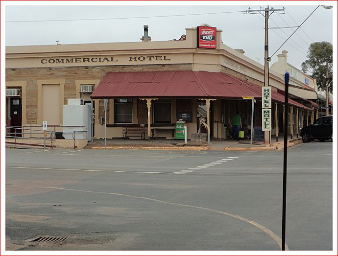 The Commercial Hotel at Orroroo.