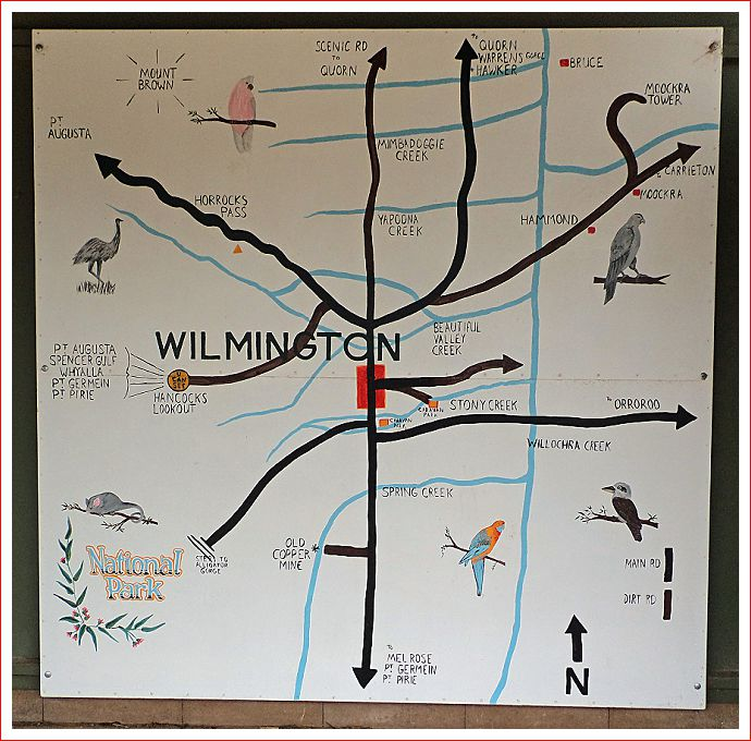 Hand painted map of Wilmington at Centenary Park.