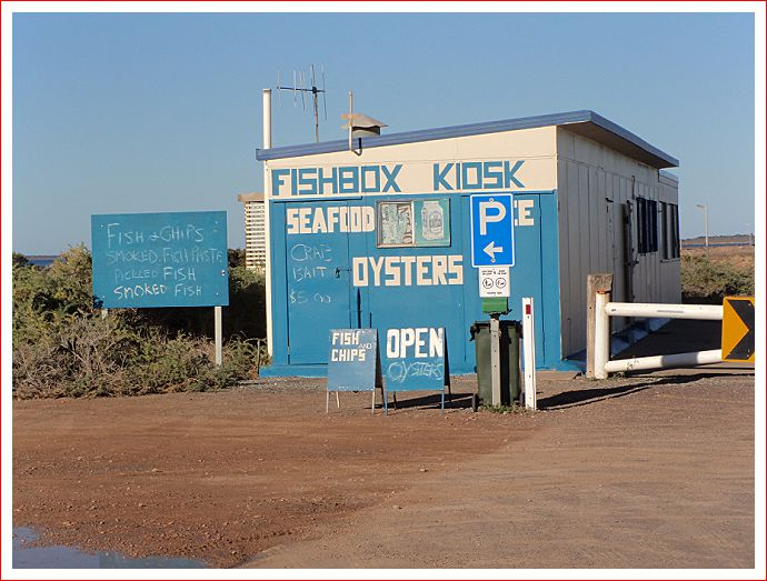 Fishbox Kiosk at Cowell jetty.