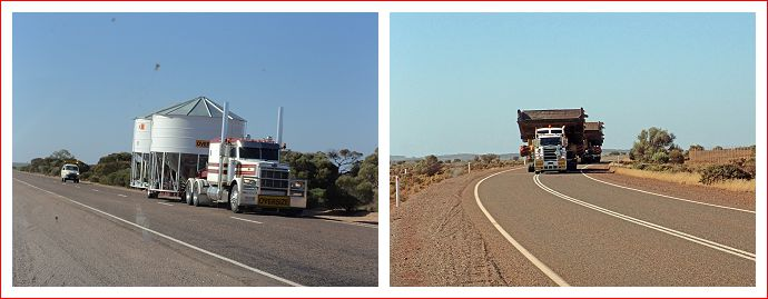 Wide loads along the Eyre Highway.