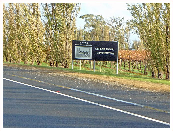 Recogniseable vineyards along the way.
