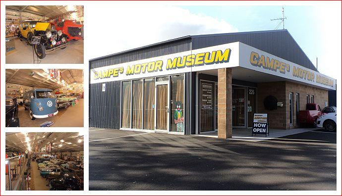 Campe's Motor Museum in Hamilton.