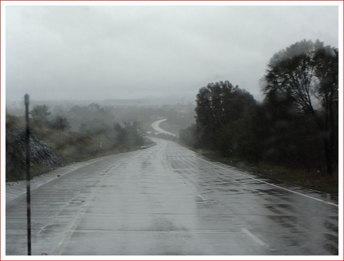 The Barton Highway into Canberra usually looks much better than this!