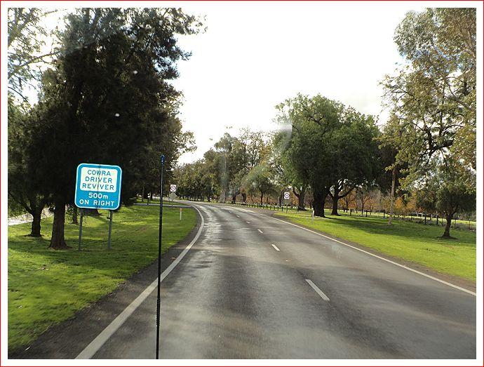 Approaching Cowra