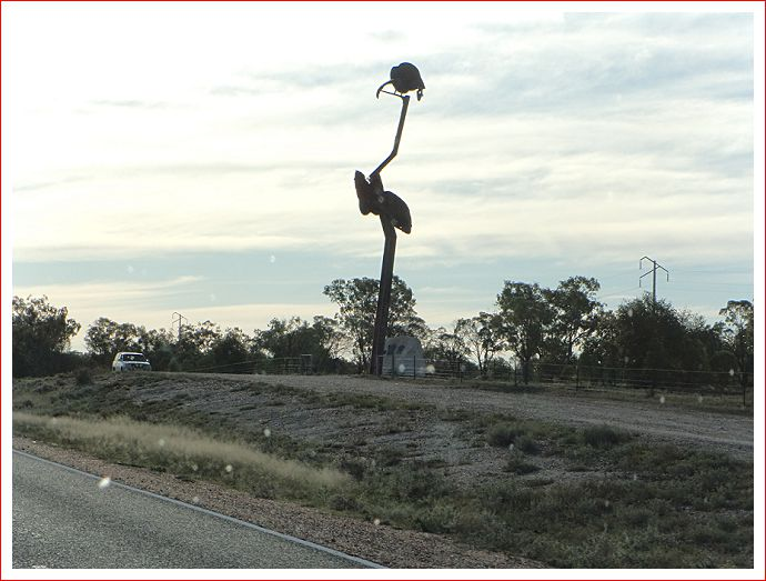 Metal statue near Lightning Ridge