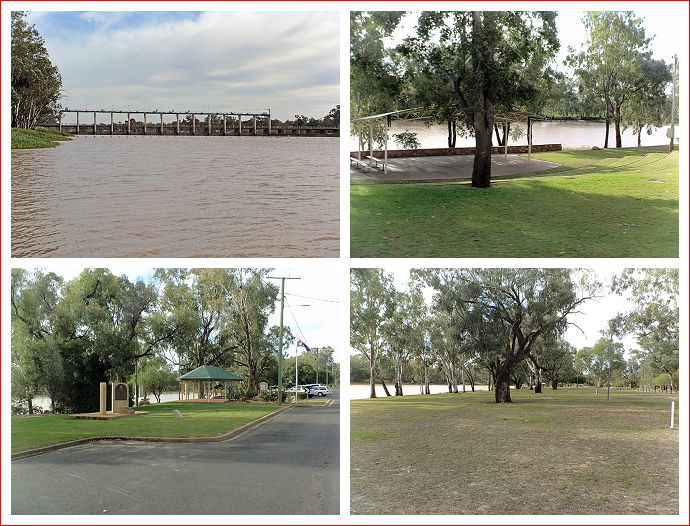 Scenes along the river at St George