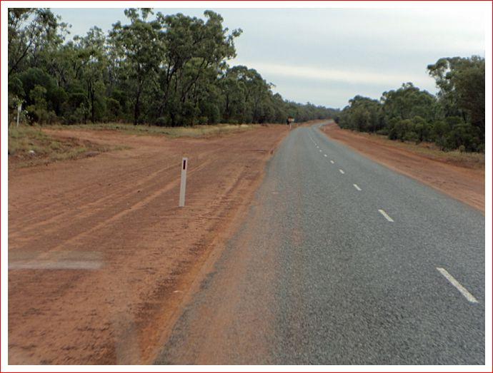 Graded road edges but still very wet