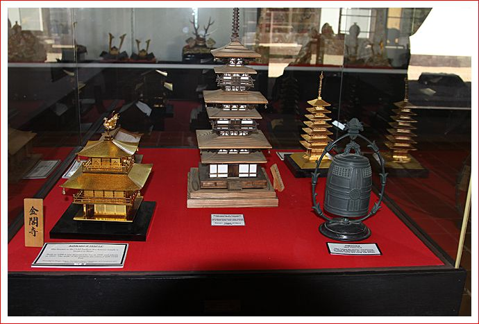 Models of traditional Japanese buildings in the Cultural Centre