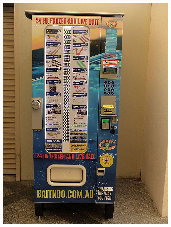 Vending Machine for Bait!
