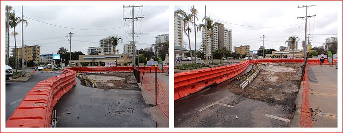 Roadworks at Cotton Tree