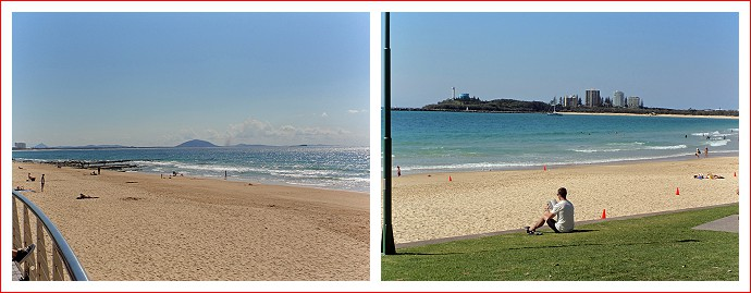 Beach views - Maroochydore in one direction and Point Cartwright in the other
