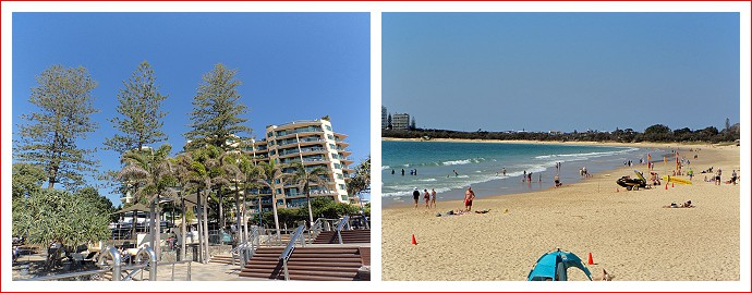Scenes at Mooloolaba beach