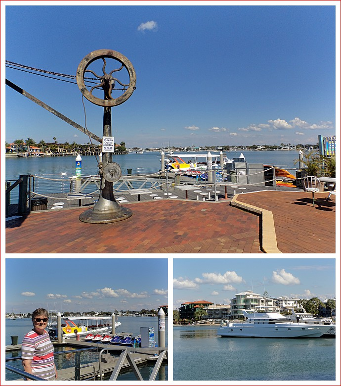 Scenes at the wharf at Mooloolaba