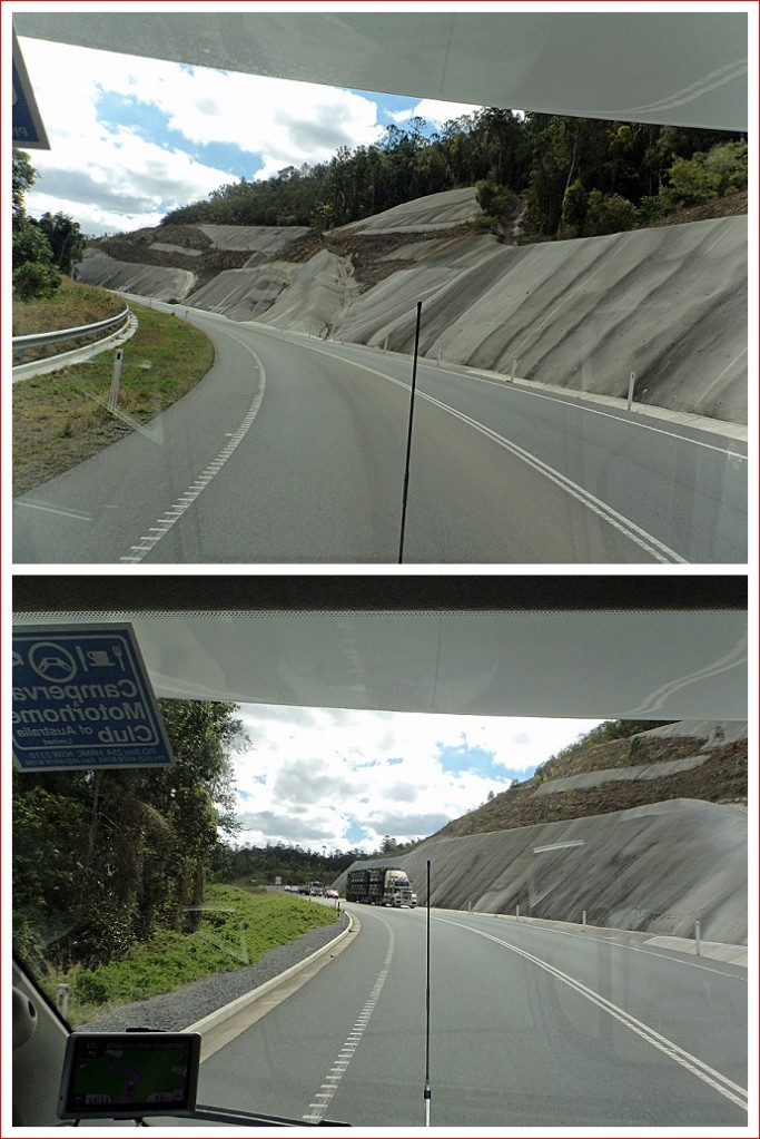 Retaining walls along the highway
