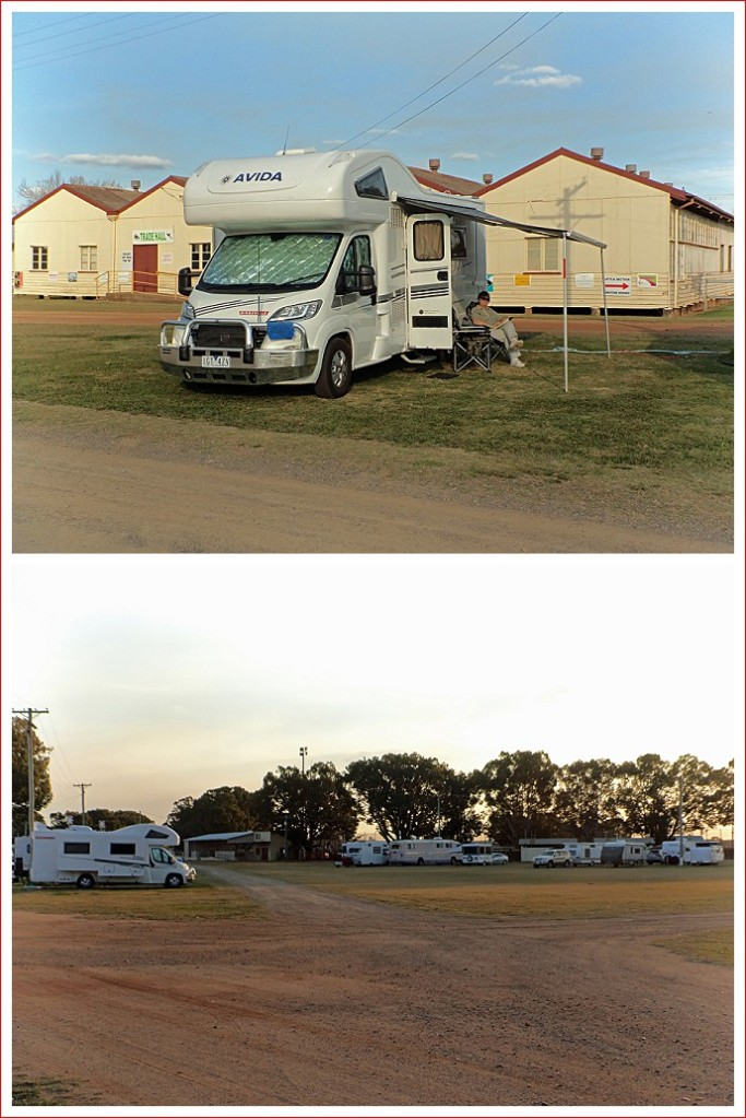 Set-up at Kingaroy Showgrounds