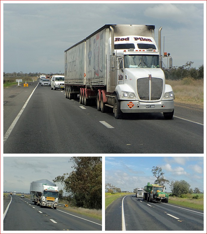 Plenty of big trucks on the Newell Highway