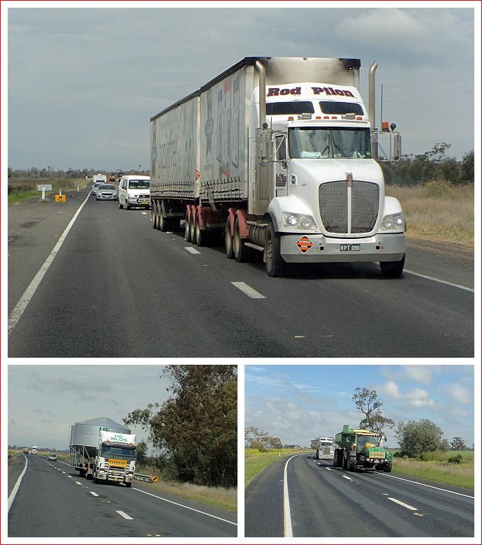 Plenty of big trucks on the Newell Highway