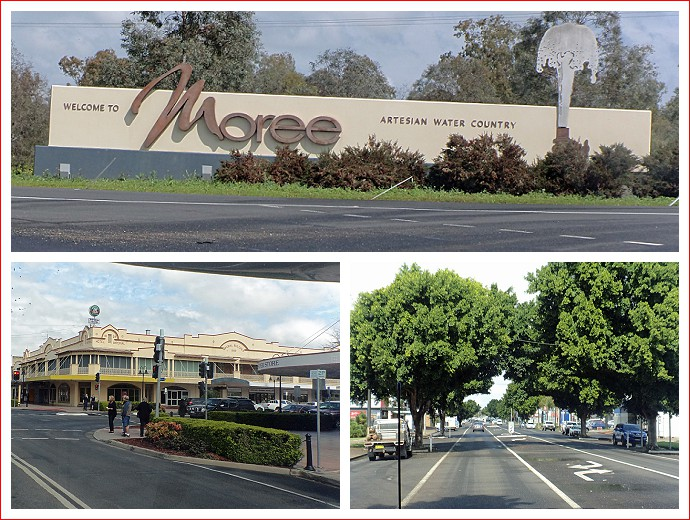 Arriving at Moree