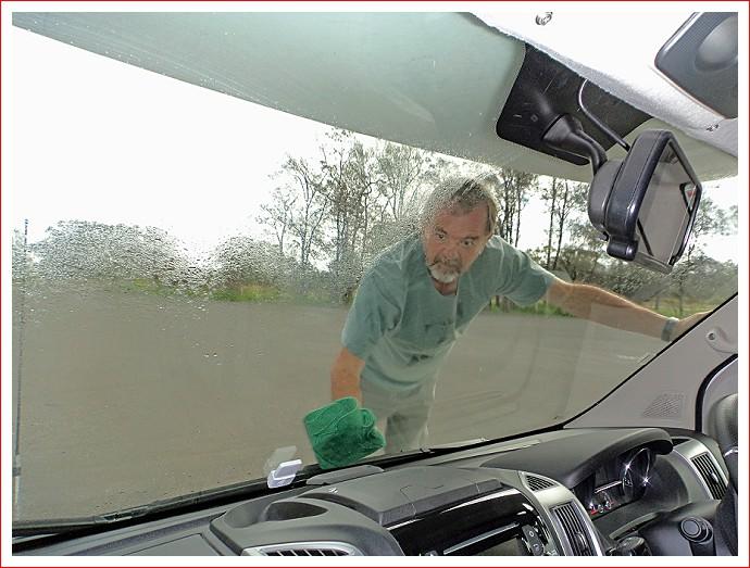 Washing the windscreen