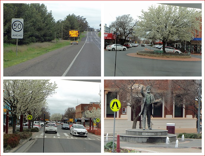 Views of Parkes, including statue of Sir Henry Parkes