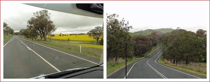 Views along Burley Griffin way to Binalong