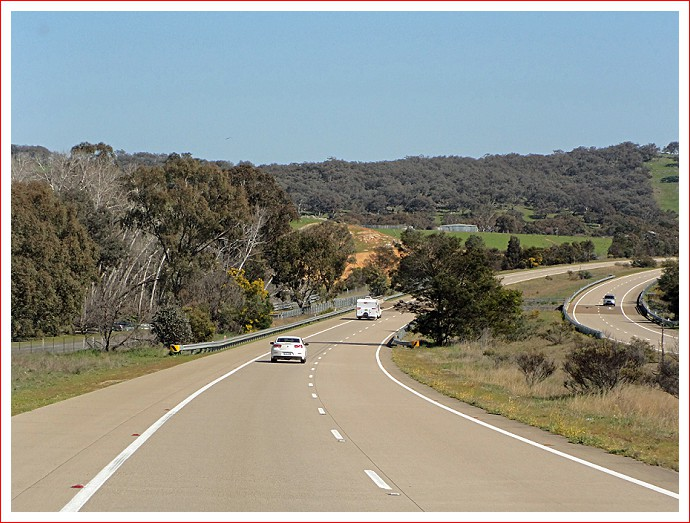 View down the Hume Highway