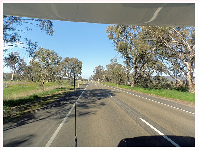 Heading from Wangaratta towards the Hume Freeway