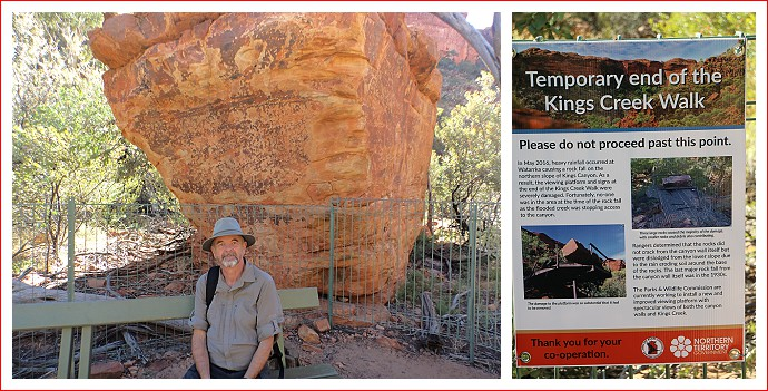 Abrupt end to Kings Canyon Creek Walk