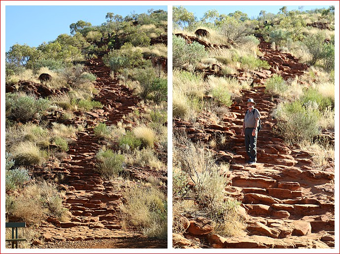Stairs at the start of the Kings Canyon Rim Walk